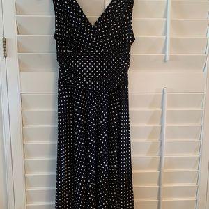 Black & White polka dot dress, size 8